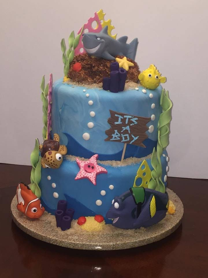 Finding Nemo Baby Shower Cake Finding Nemo Shower Cakes And Babies