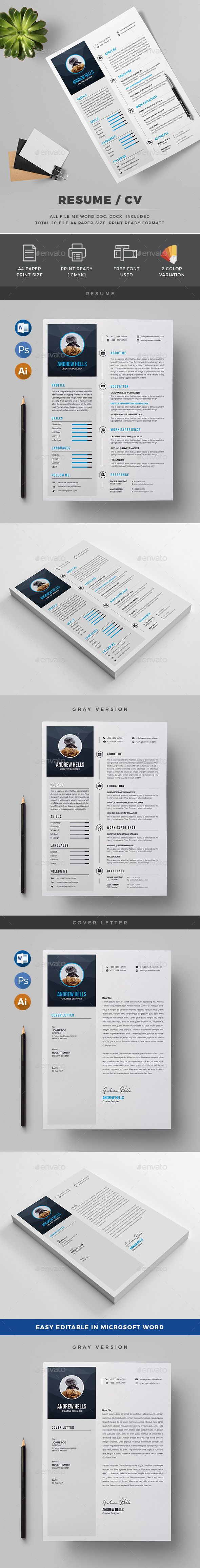 Resume  Resume Cv Stationery Design And Simple Resume Template