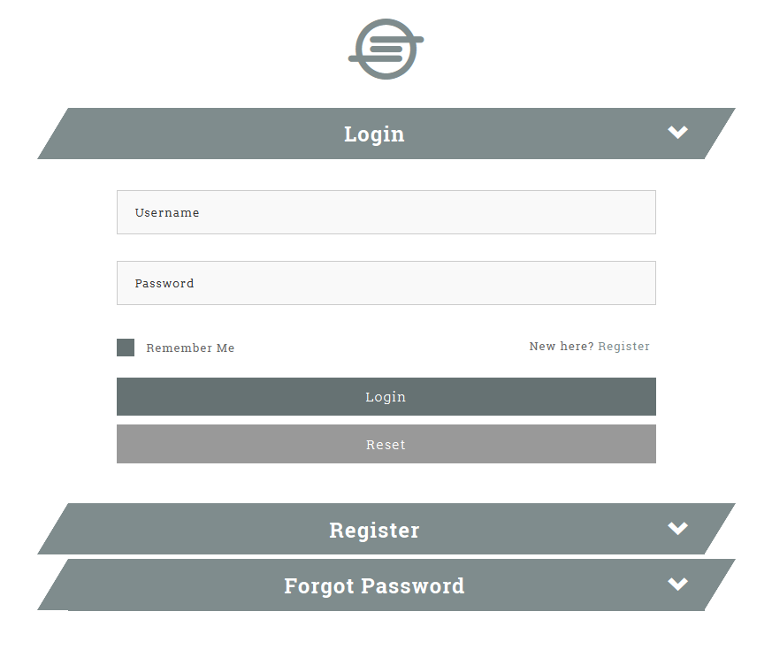 Pagli - Bootstrap Collapse Log in & Register Form | Logo