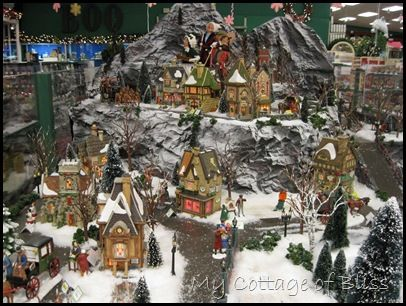 Christmas Village Displays For Home Setup Large Tables