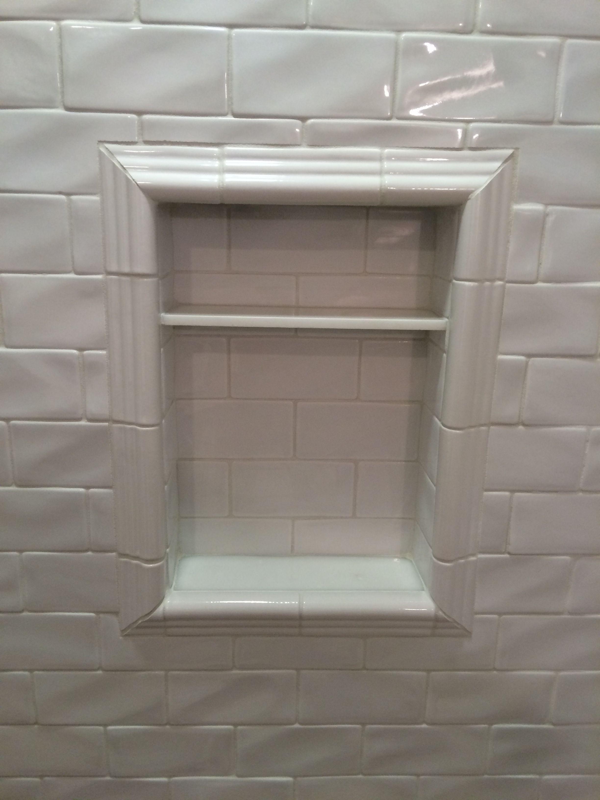 Mid america tile elk grove village - Highland Park Tile Shampoo Niche Marble Ledge And Shelf