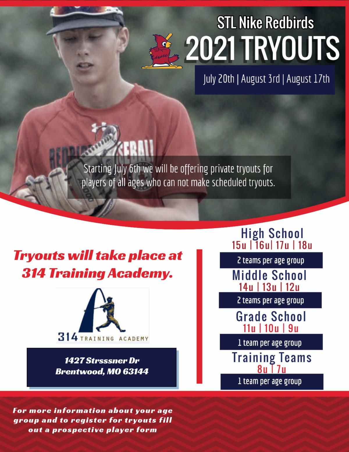 Stl Nike Redbirds 2021 Tryouts In 2020 Players How To Make St Louis