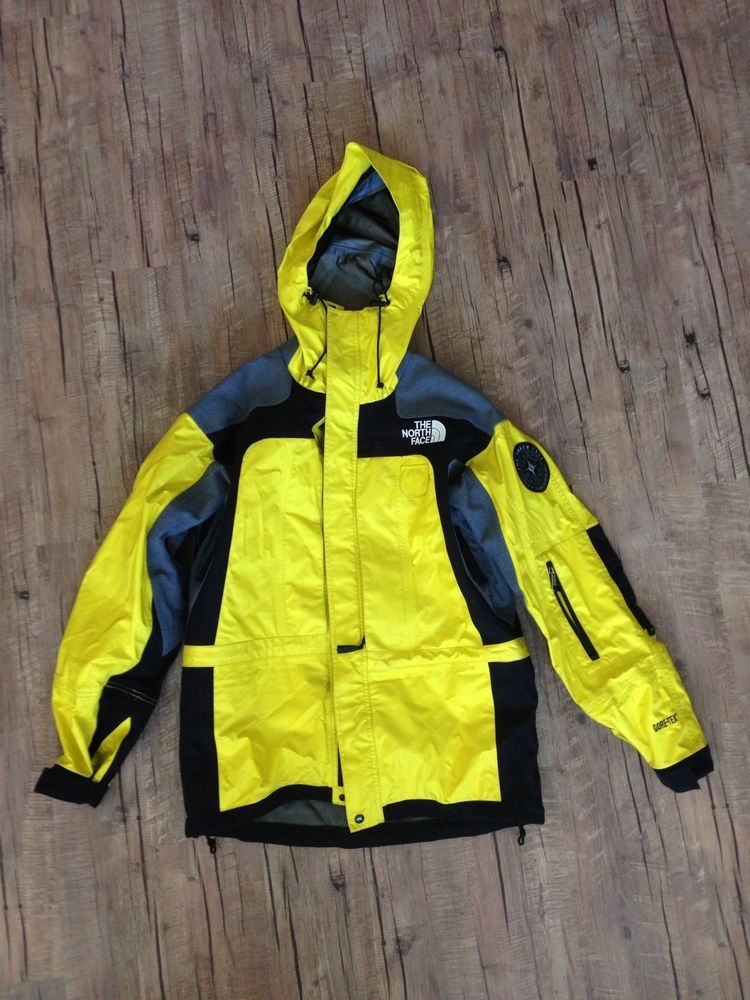 supreme the north face jacke gelb outfit