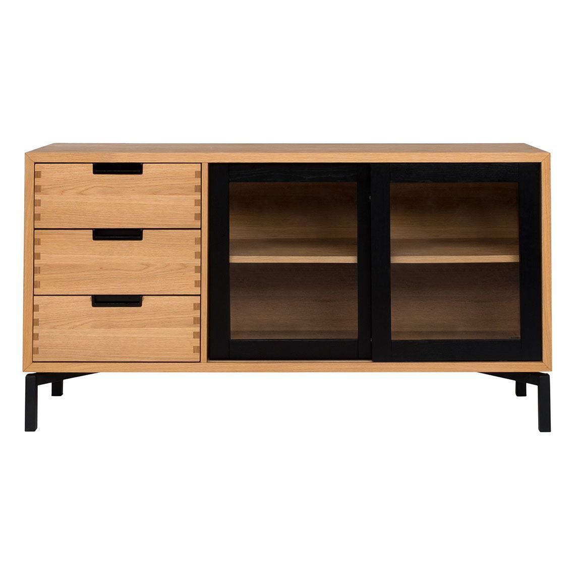 atelier 2 door 3 drawer buffet black oak products pinterest rh pinterest com