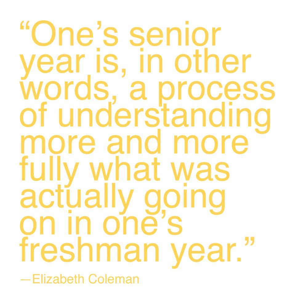 senior year is understanding freshman year senior year senior year is understanding freshman year