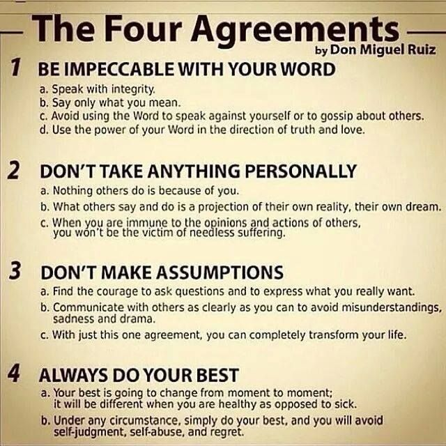 Wake Each Day And Make These Your Agreements With Yourself  A