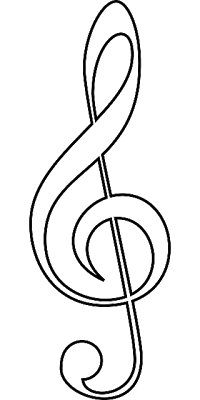 Music Note To Color  Musical Note Templates    Music