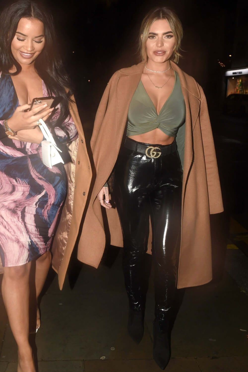 Megan Barton Hanson Night Out In London Night Out Black Leather Pants Fashion