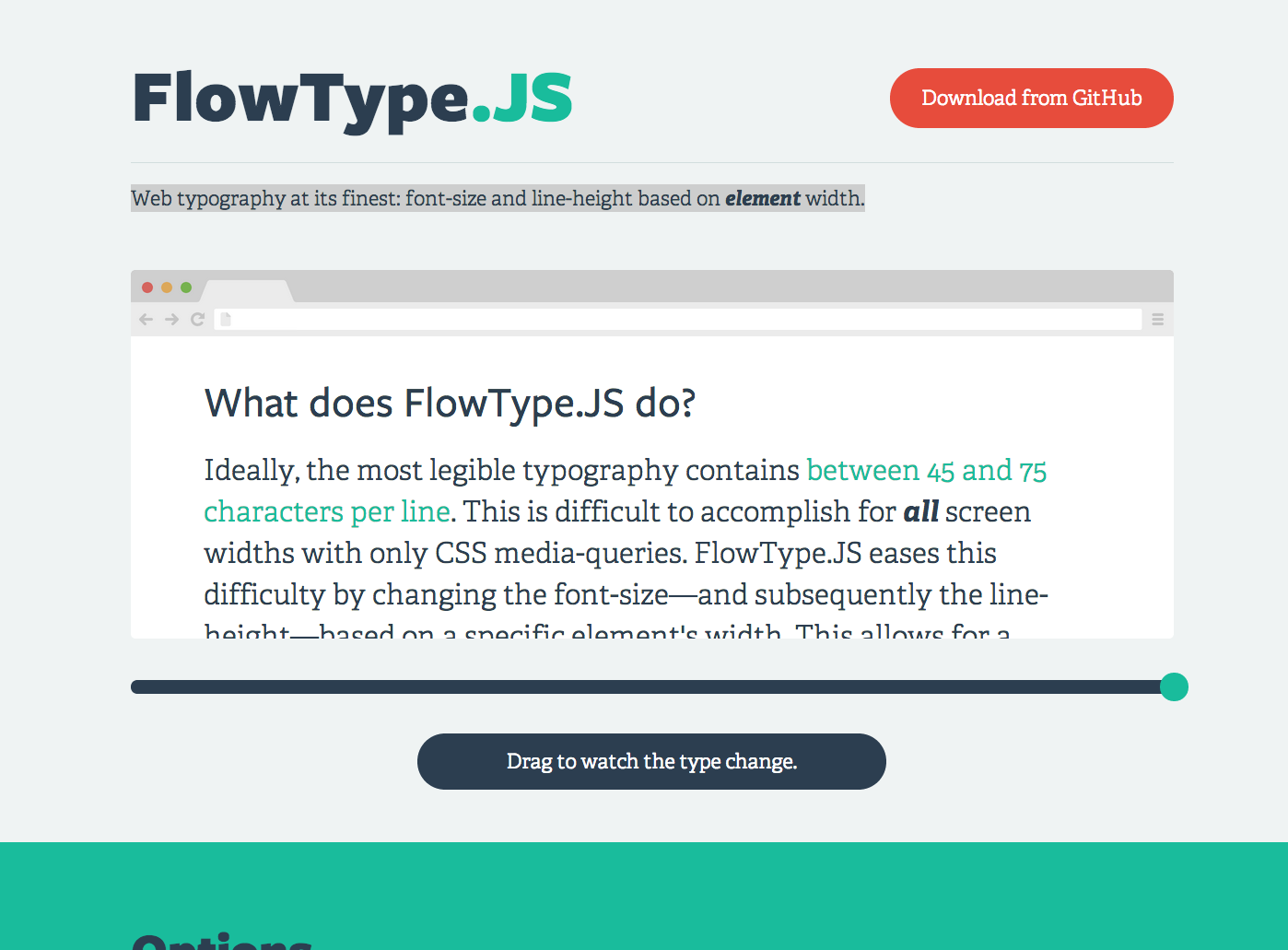 Web Typography At Its Finest Font Size And Line Height Based On Element Width Interface Design Web Design Typography