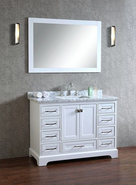 anele 48 inch white bathroom vanity with mirror bathroom remodel rh pinterest com