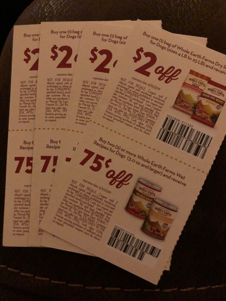 Lot of 8 whole earth farmers dog food coupons ebay dog
