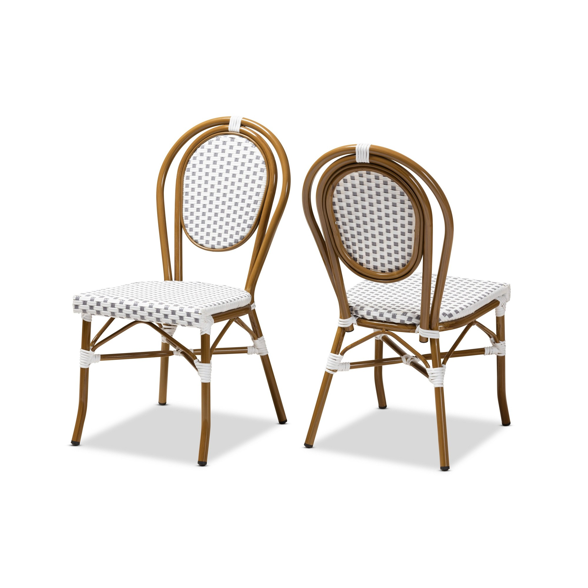 set of 2 gauthier indoor and outdoor stackable bistro dining chairs rh pinterest com
