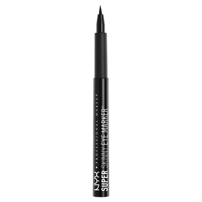 Nyx Professional Makeup Super Skinny Eye Marker Carbon Black 0.03 oz, Skinny Black