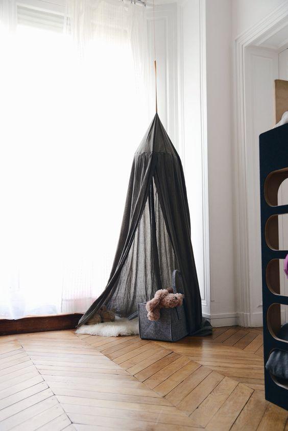 Chambre pour deux enfants - fille et garçon - DIY une tente   Deco ... 58eb52b8b1f1