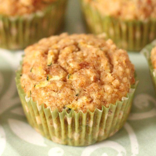 100% Whole Grain Lemon Zucchini Muffins | Texanerin Baking