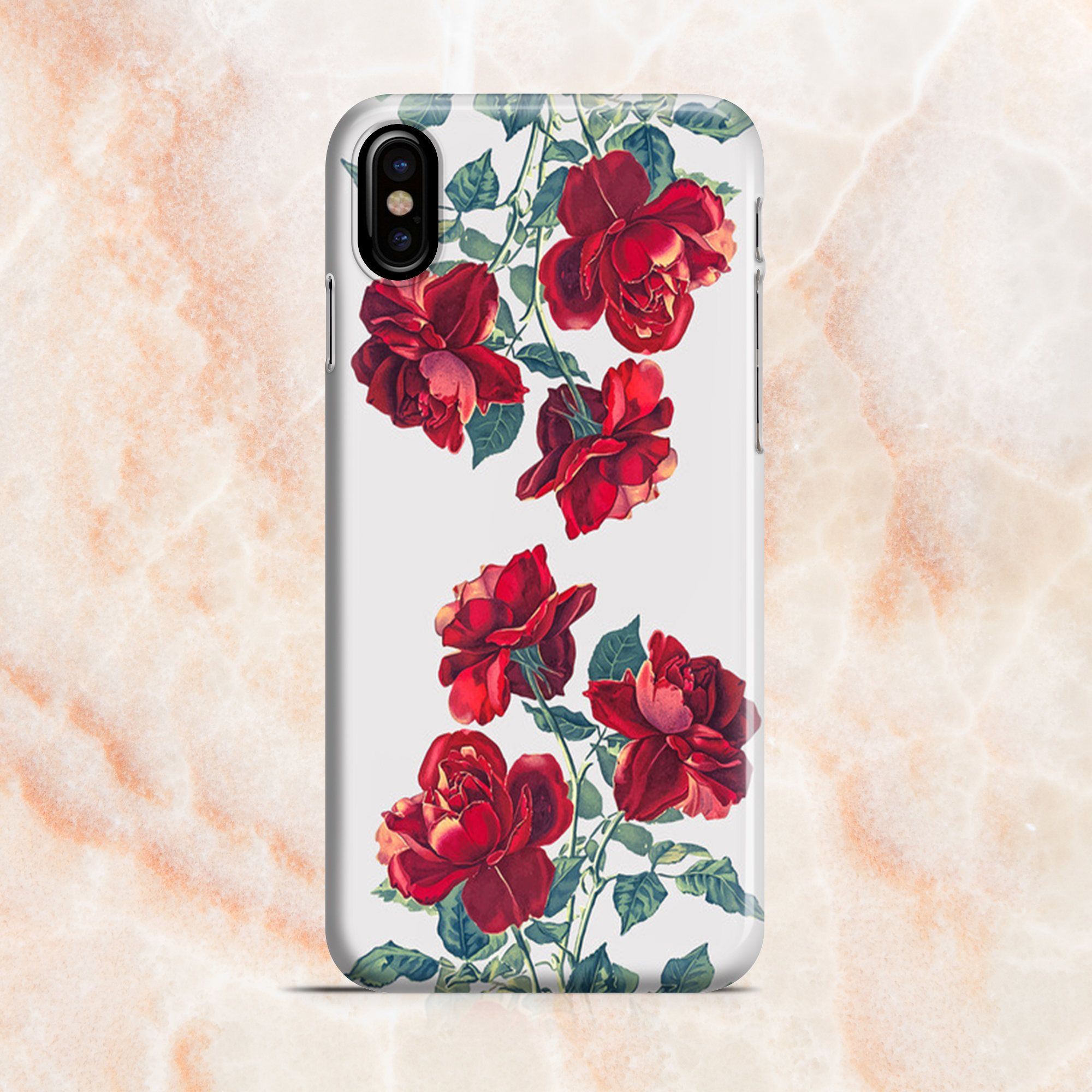 iphone 8 case red floral
