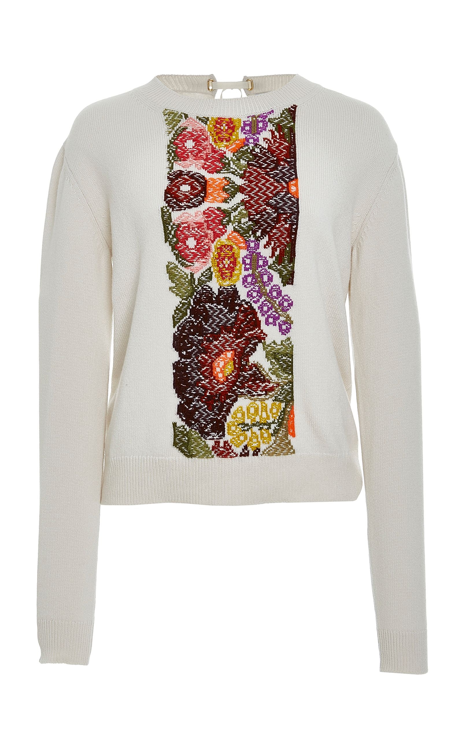 BARRIE BARRIE FLORAL INTARSIA CASHMERE SWEATER. #barrie #cloth ...