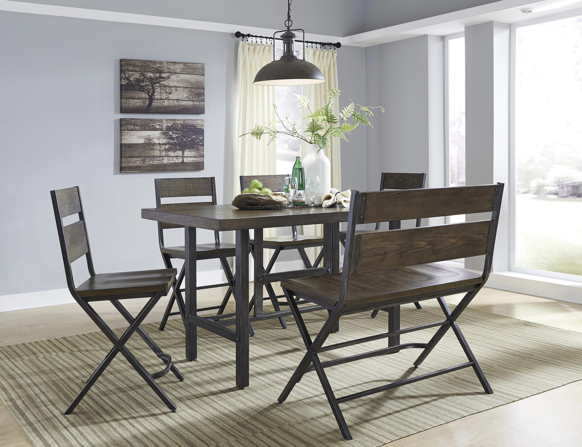 kavara counter height rectangular dining room set ashley home rh pinterest com