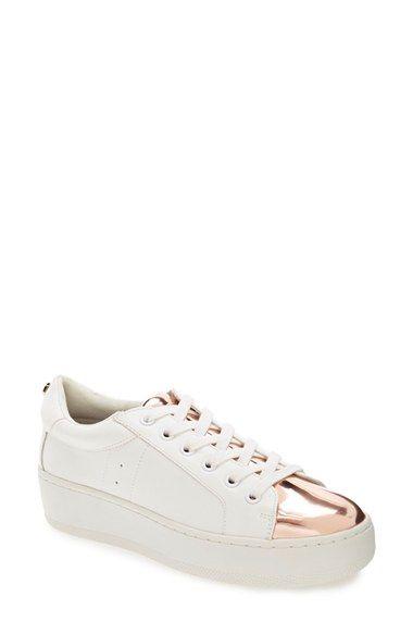 7870de5d4e4 Free shipping and returns on Steve Madden  Bertie  Metallic Platform Sneaker …