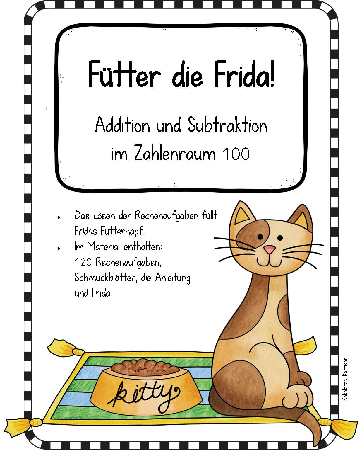 Fütter die Frida: Material zur Addition und Subtraktion mit hohem ...