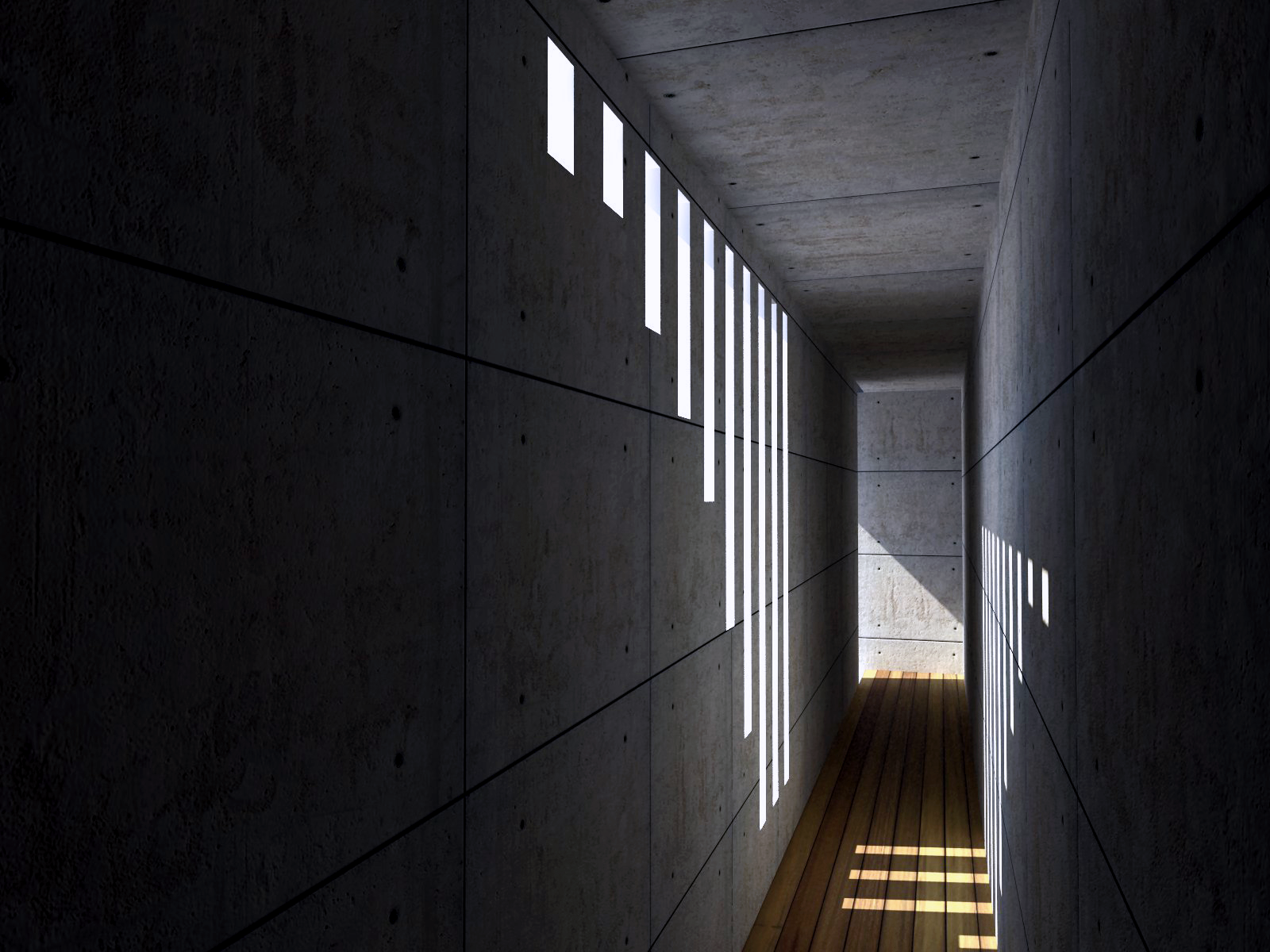 Ando tadao rokko house pinterest - Architectureal Visualization Of Koshino House By Tadao Ando