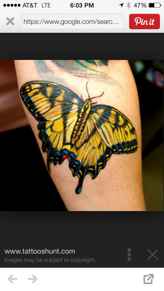 Yellow Butterfly Tattoo Yellow Butterfly Tattoo Yellow