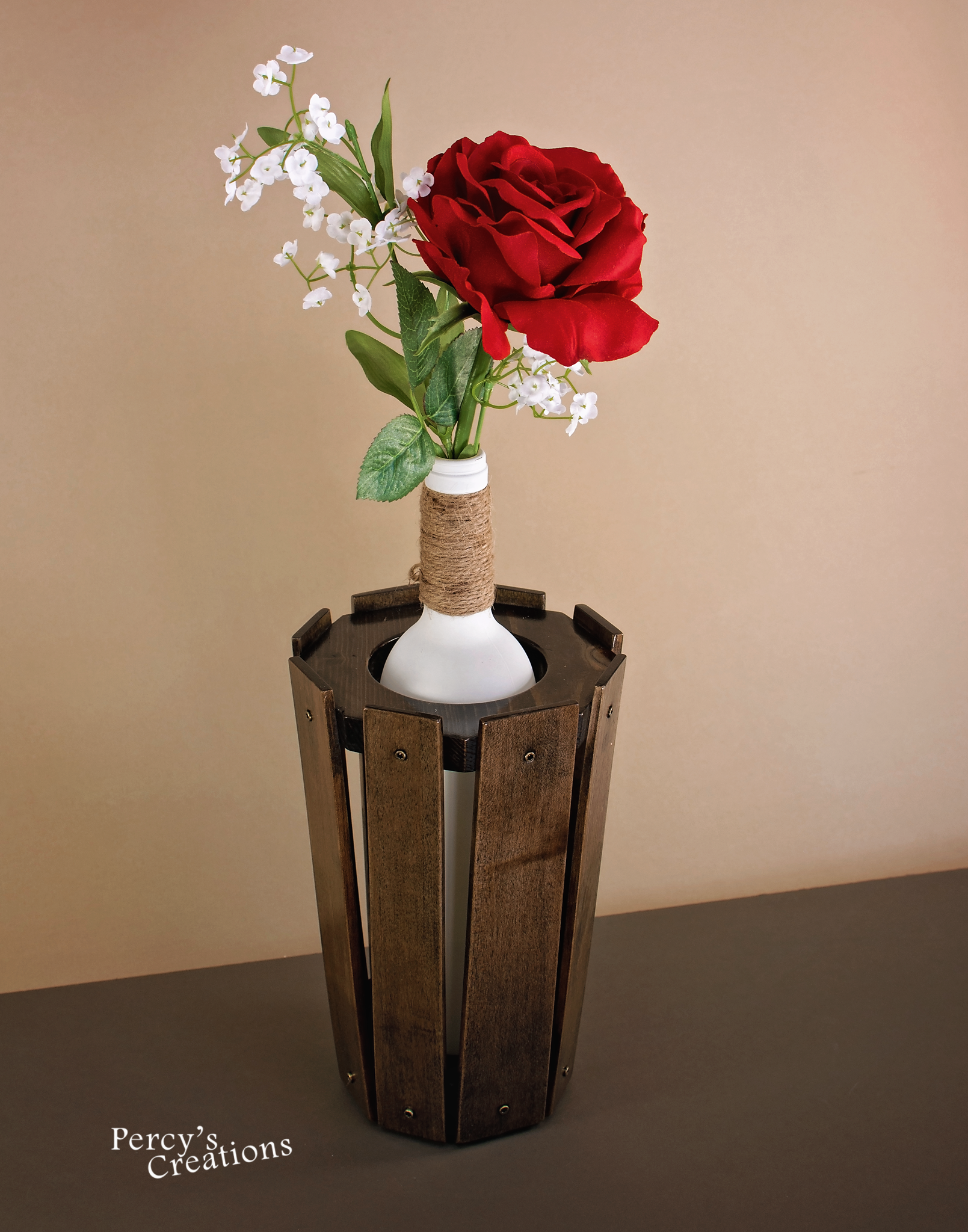 This Handmade Wooden Vase Is Made Out Of Maple This Has Been Hand