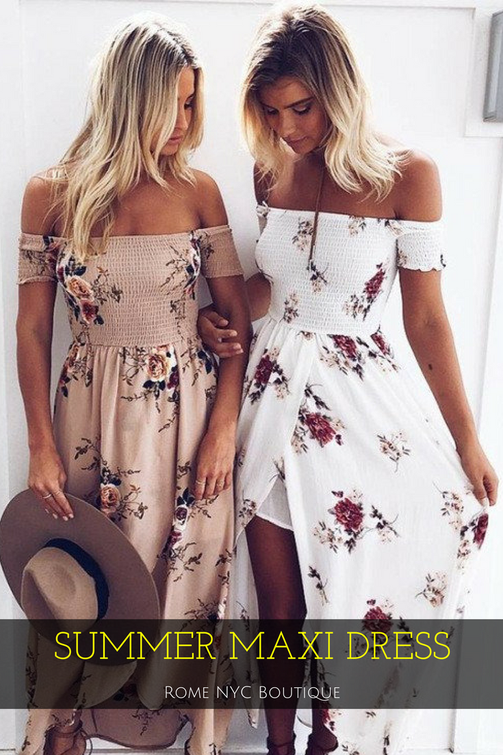 Floral maxi dress wedding  Floral OffShoulder Maxi Dress  Free shipping Clothes and Maxi dresses