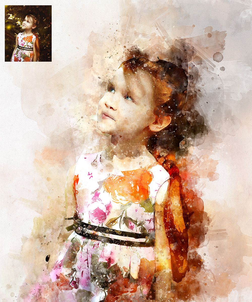 Watercolor Artist Perfectum 2 Photoshop Action Watercolor