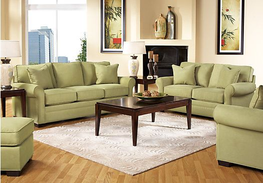 cindy crawford home bellingham wasabi 7 pc living room in 2019 rh pinterest com