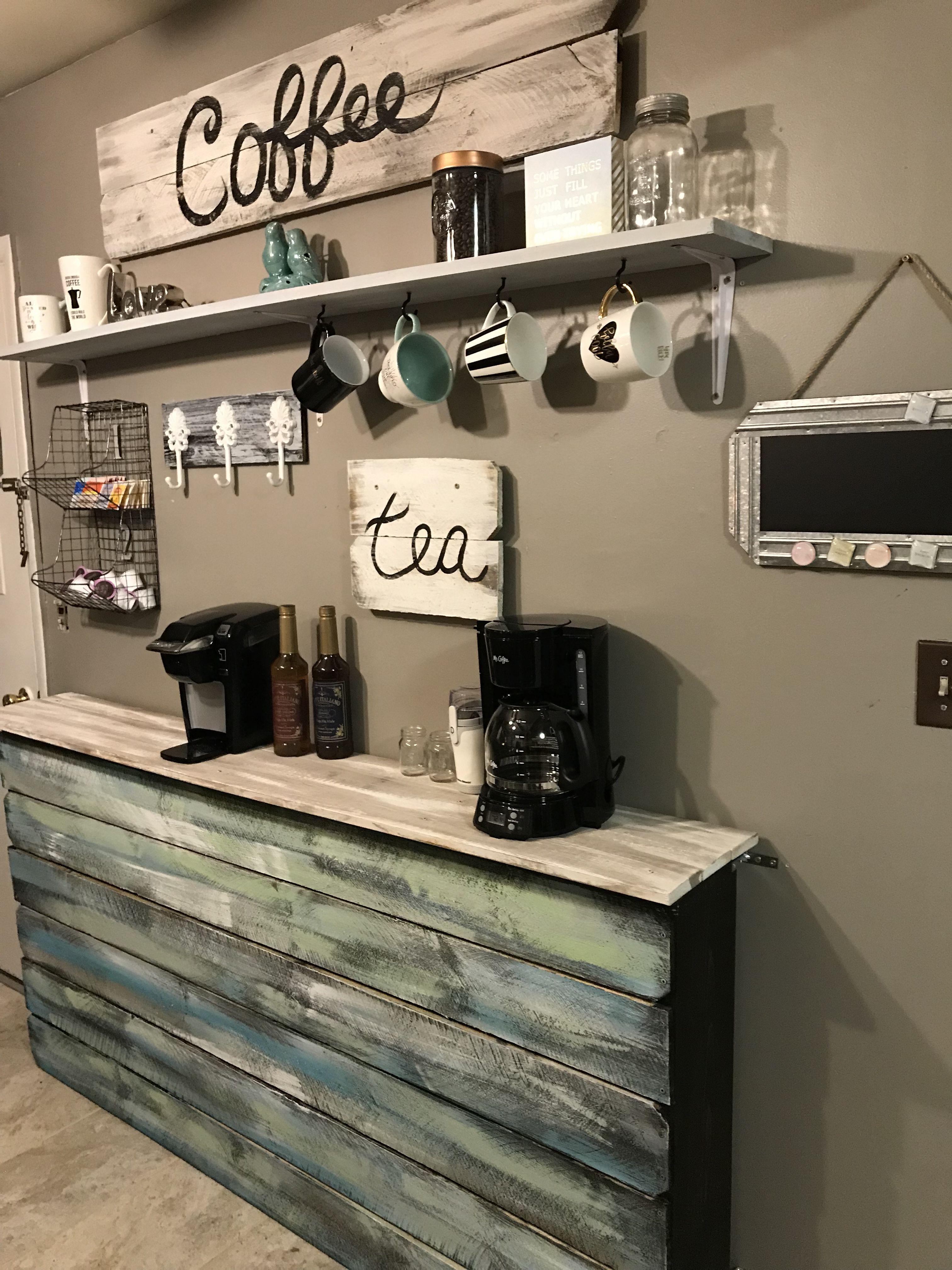 Farmhouse Coffee Bar Console table