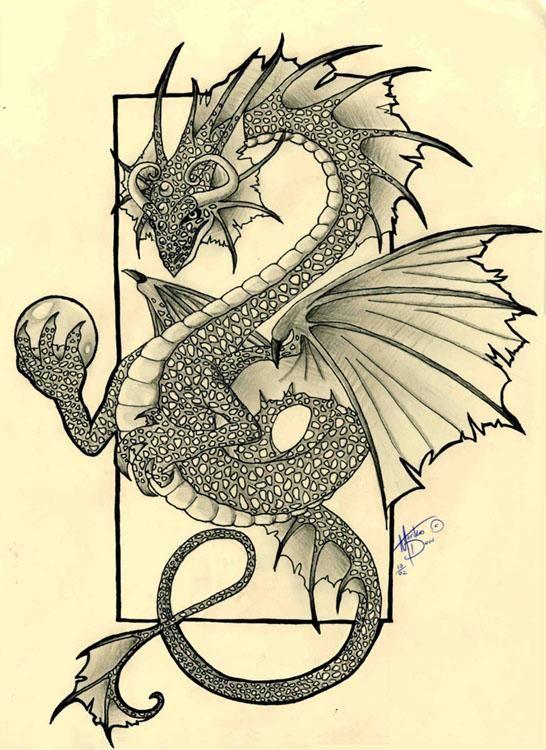 Dragon Orb Fantasy Art Dragon Dreaming Dragon Drawing Dragon