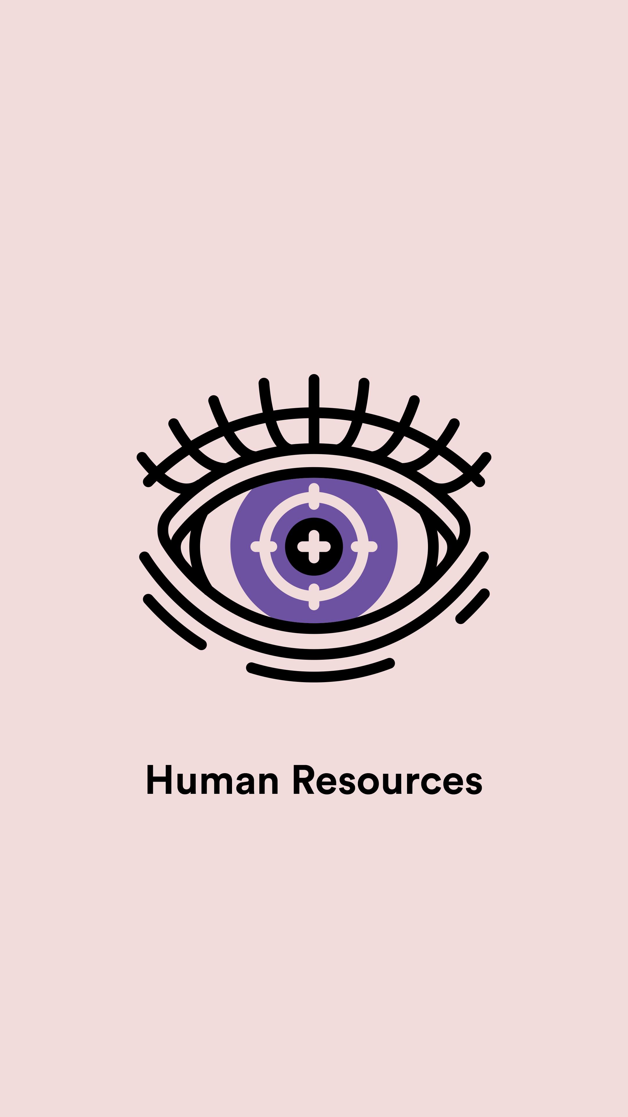 Office Signage For Lola Mullenlowe Paris Illustration Icondesign Hr Humanresources Eye Target Signage Design Signage Design