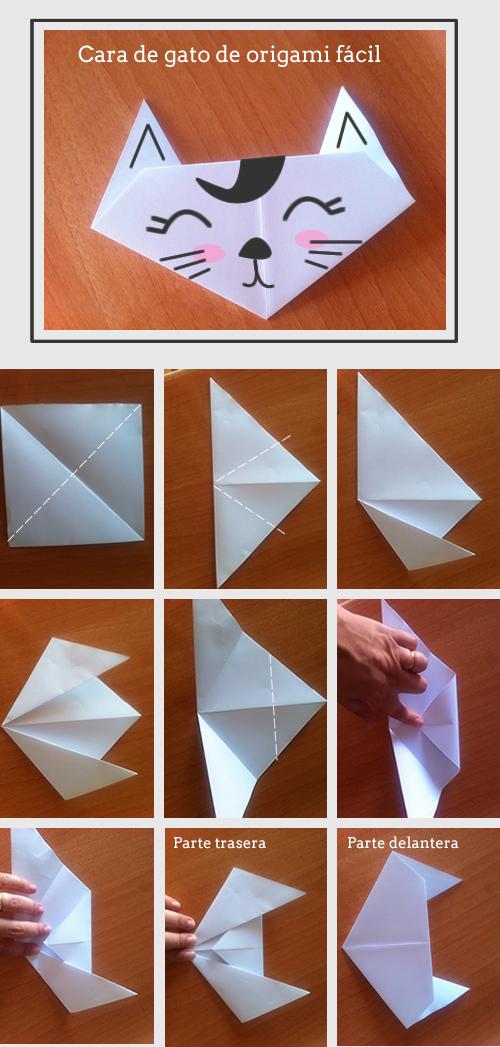 C mo hacer un gato de origami muy f cil origami craft - Manualidades faciles de hacer ...