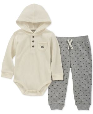 326076602b83 Calvin Klein Baby Boy s 2-Pc. Long Sleeve   Pant Set - Assorted 24M ...