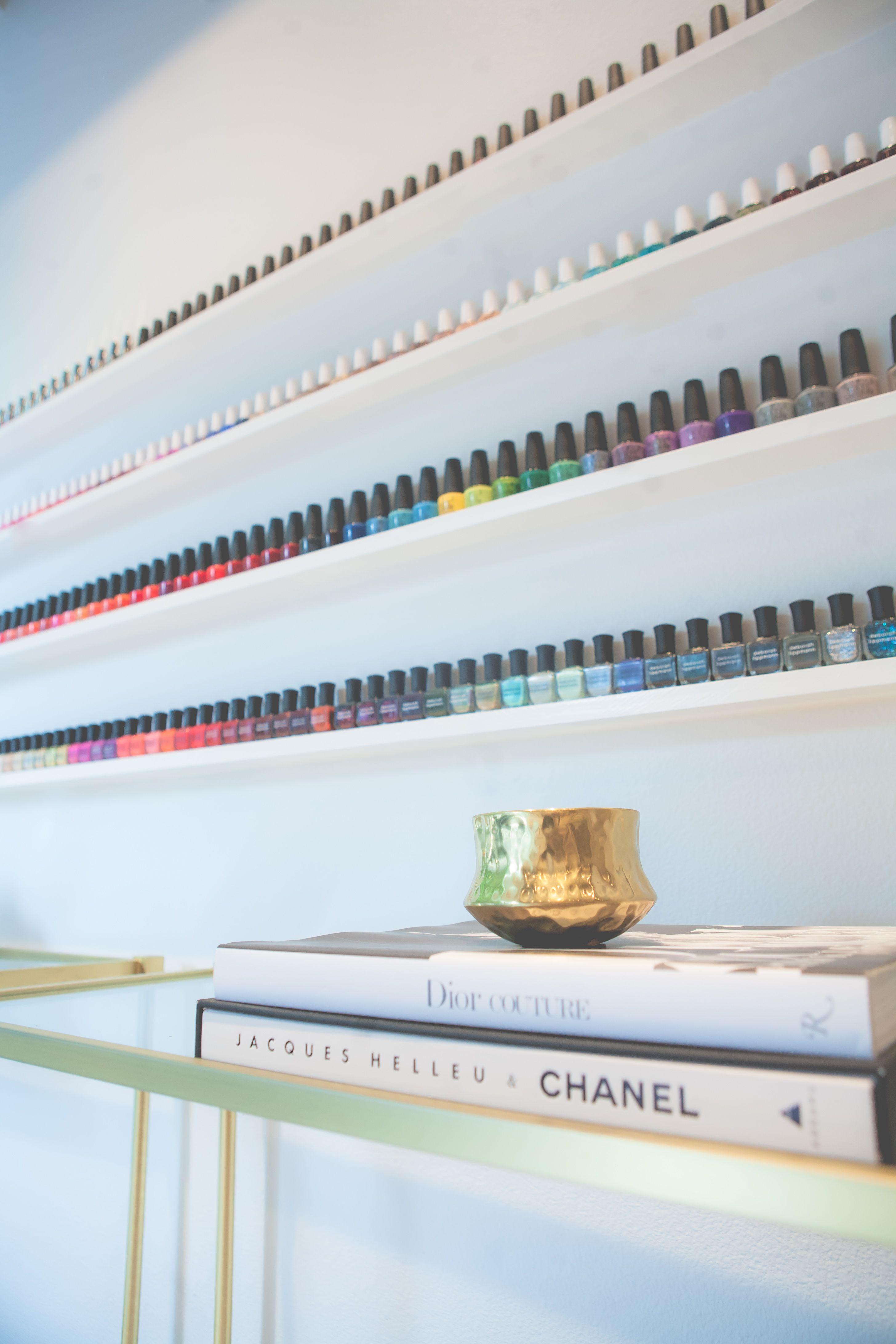 lacquer nail salon wall of color we carry deborah lippmann smith rh pinterest com