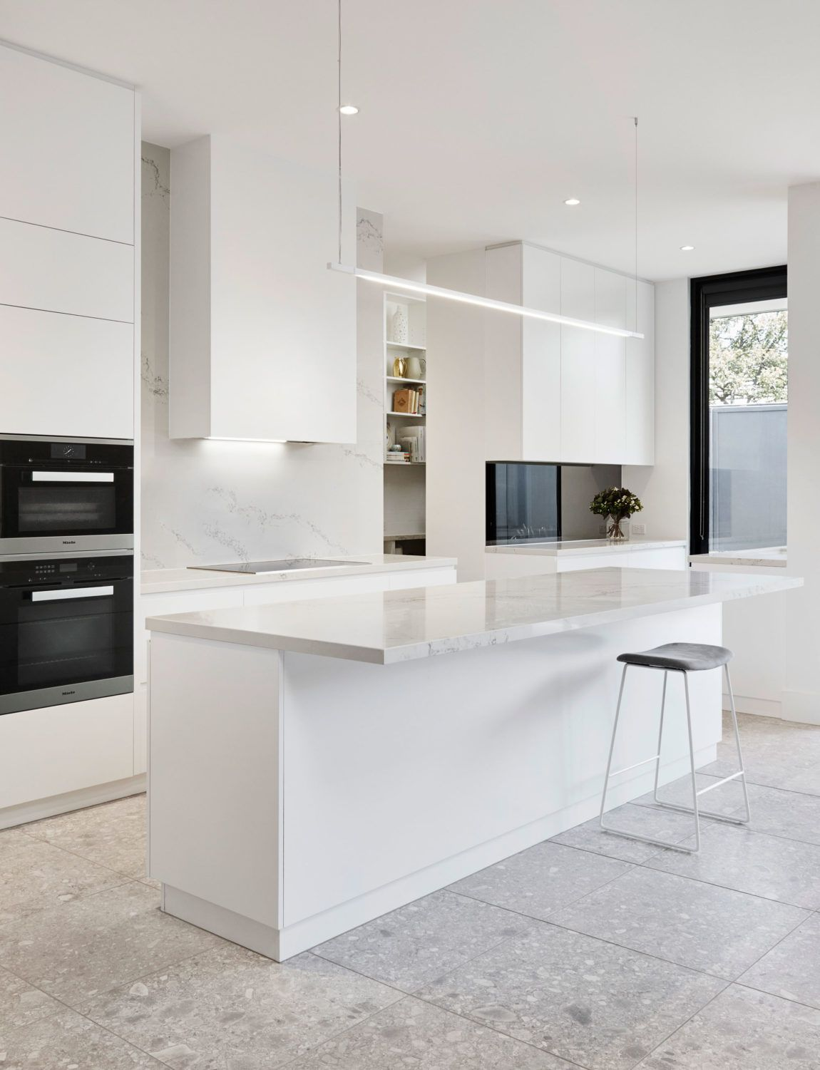 Simple and Delicate Renovation of White Spaces