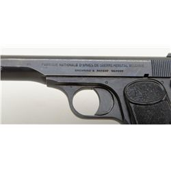"FN Browning Model 1922 semi-auto pistol, 7.65mm cal., 4-1/2"" barrel, blue finish, checkered hard r"