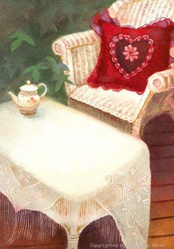 Happy Valentine's Day from Mary's Garden, by Nebraska artist Nancy Lee Moran, prints available