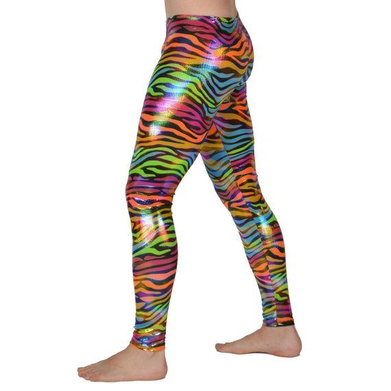 9a24647560421f Neon Animal Print Leggings // Rave Festival Meggings // 80's Costume Neon  Zebra, Tiger, Legging