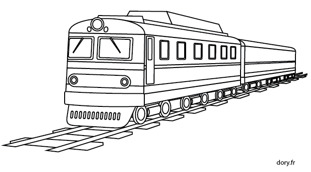 Dessin imprimer un train ausmalbilder fahrzeuge - Dessin train et wagon ...
