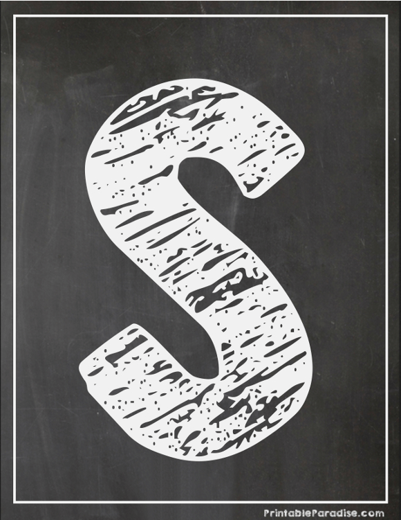 graphic relating to Printable Chalkboard Letters titled Printable Letter S Chalkboard Composing Chalk board