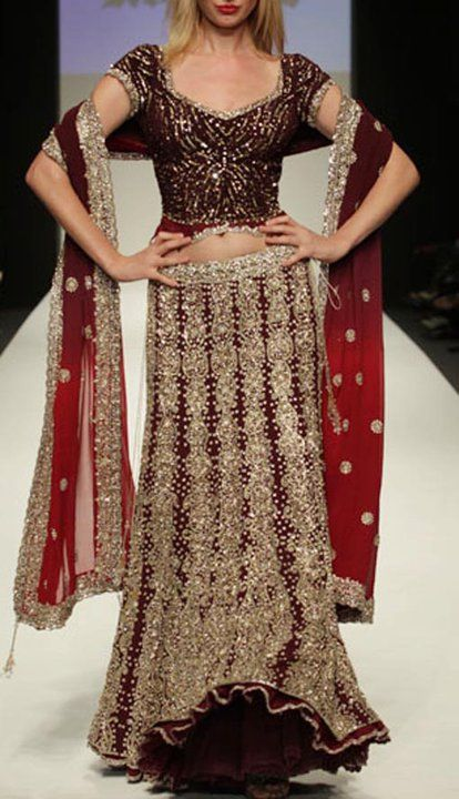 Latest pakistani fashion 2012 red and silver bridal wear for Cheap pakistani wedding dresses
