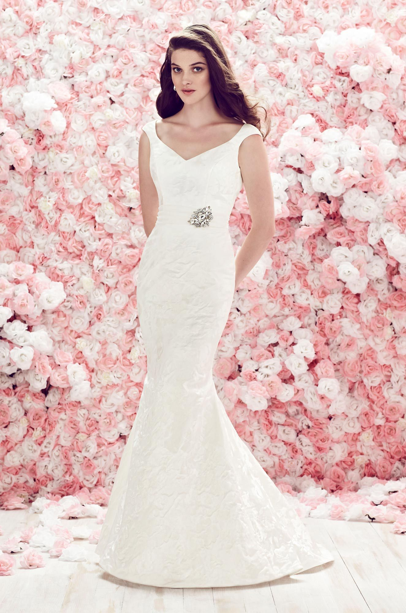 Fitted Brocade Wedding Dress - Style #1862   Mikaella bridal, Gowns ...