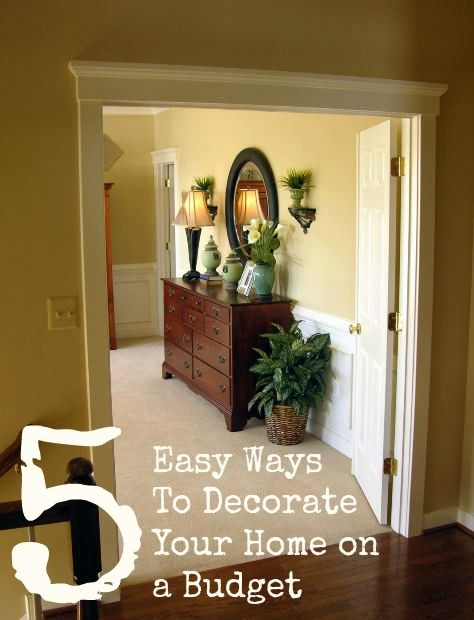5 easy ways to decorate your home on a budget discount
