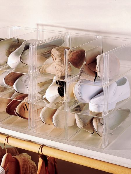 Shoe Eze  Plastic Shoe Boxes U0026 Containers   Storage Solutions | Solutions