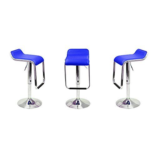Best Magshion Blue Leather Square Seat Design Swivel Bar Stool 400 x 300