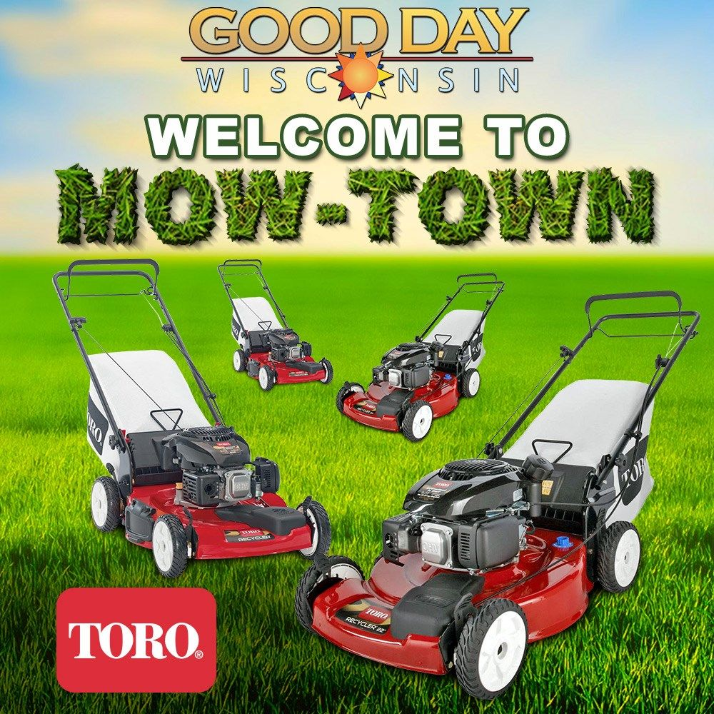 Good Day Wisconsin is giving away ELEVEN Toro Recycler 22