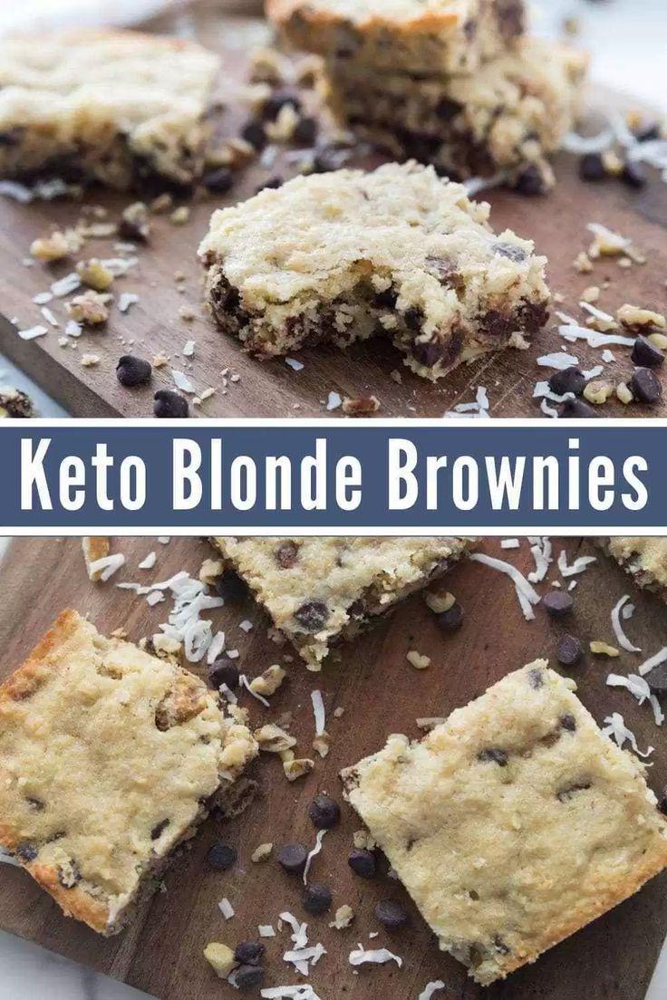 Keto Fudge Brownie Mix Blonde Low Carb Brownies - Keto Brownies - Ideas of Keto Brownies -   Cravin