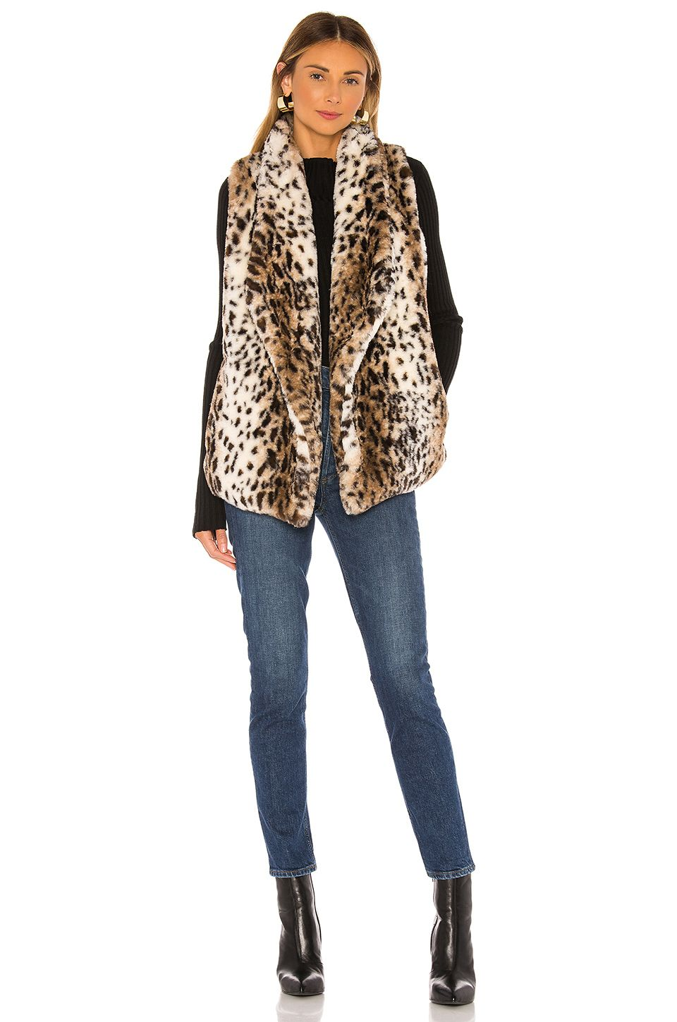BB Dakota Jack By BB Dakota Purr Usual Faux Leopard Vest in Ivory